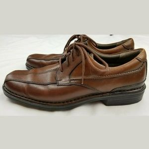 Clark's Brown Leather Lace-up Oxford Dress Shoes